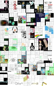 This is the 50 ideas assignment. You can Zoom In to see the images.